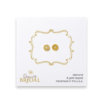 bridal+circle+diamond+stud+earrings%2C+gold+dipped