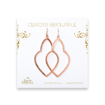bridal+earrings%2C+always+beautiful+empress%2C+rose+gold+dipped