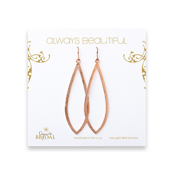 bridal+earrings%2C+always+beautiful+petal%2C+rose+gold+dipped