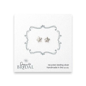 bridal+cherry+blossom+stud+earrings%2C+sterling+silver