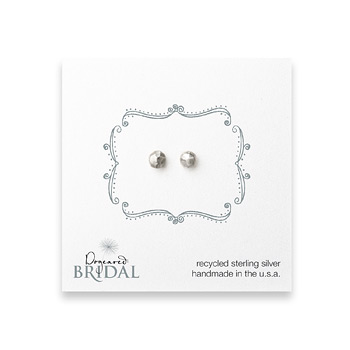 bridal+faceted+stone+stud+earrings%2C+sterling+silver