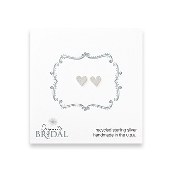 bridal+heart+stud+earrings%2C+sterling+silver