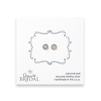 bridal+circle+diamond+stud+earrings%2C+sterling+silver