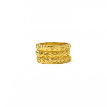 gifts+to+go+collection+gold+dipped+rings%2C+links%2Fwheat%2Fflowers+-+size+7