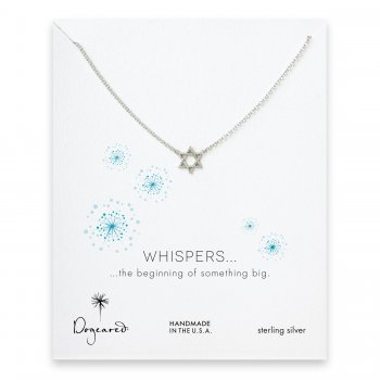 whispers jewish star necklace, sterling silver