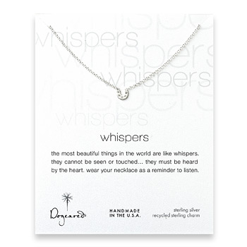 whispers+cute+horseshoe+sterling+silver+necklace
