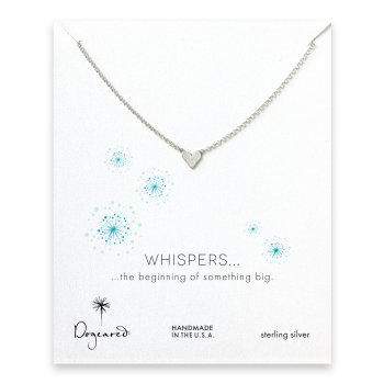 whispers heart necklace, sterling silver