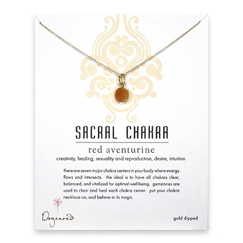gold dipped sacral chakra adventurine necklace