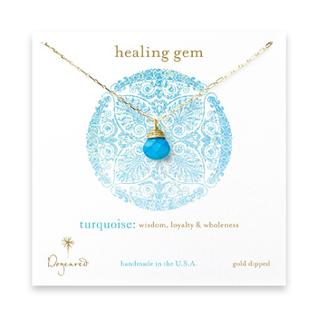 healing+gem+briolette+turquoise+necklace%2C+gold+dipped