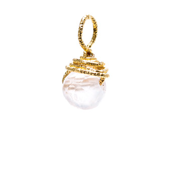 rose+quartz+round+gem%2C+gold+dipped