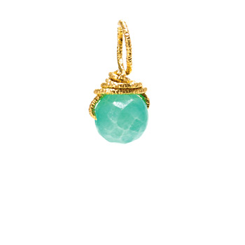 hemimorphite+round+gem%2C+gold+dipped