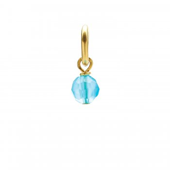 turquoise quartz round faceted gem, gold dipped