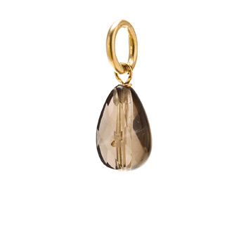 smokey+quartz+teardrop+gem%2C+gold+dipped