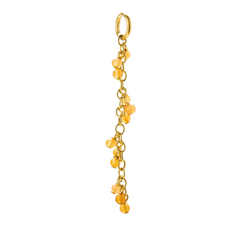 red aventurine cascading gems, gold dipped