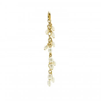 cascading pearls, gold dipped