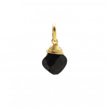 black+onyx+gem+faceted+diamond+cut%2C+gold+dipped