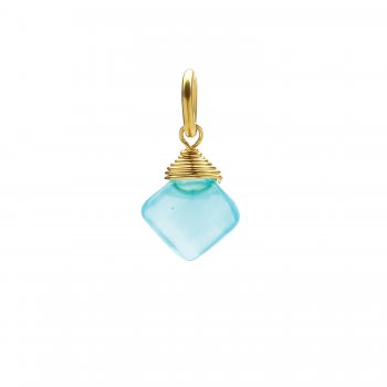 turquoise+quartz+gem+faceted+diamond+cut%2C+gold+dipped