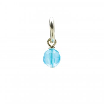 turquoise quartz round faceted gem, sterling silver