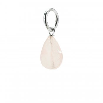 rose quartz teardrop gem, sterling silver