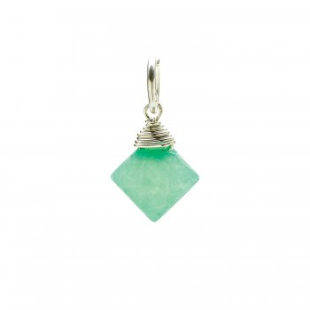 hermimorphite gem faceted diamond cut, sterling silver