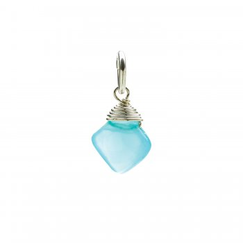 turquoise quartz gem faceted diamond cut, sterling silver