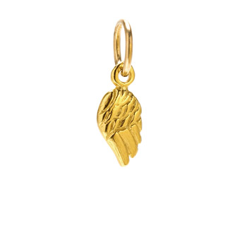 single angel wing charm, gold dipped