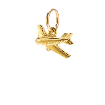 airplane+charm%2C+gold+dipped