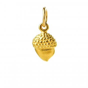 acorn charm, gold dipped