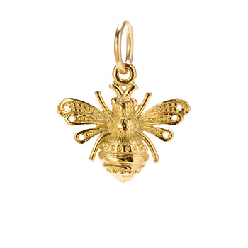 bee+charm%2C+gold+dipped