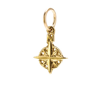 compass charm, gold dipped