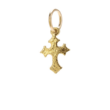 gothic+cross+charm%2C+gold+dipped
