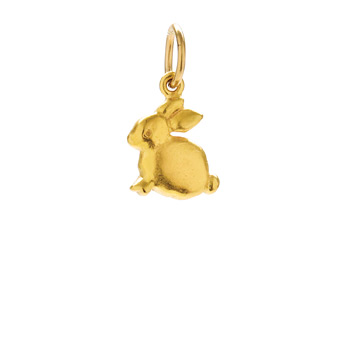 bunny charm, gold dipped