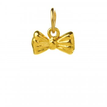 ribbon+bow+charm%2C+gold+dipped