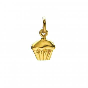 cupcake charm, gold dipped