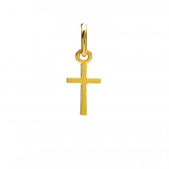 simple cross charm, gold dipped