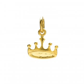 crown charm, gold dipped
