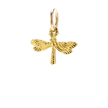 dragonfly charm, gold dipped