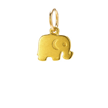 elephant charm, gold dipped