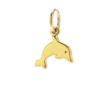 dolphin+charm%2C+gold+dipped