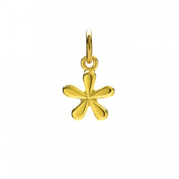 groovy flower charm, gold dipped