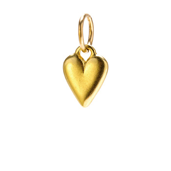 kind heart charm, gold dipped