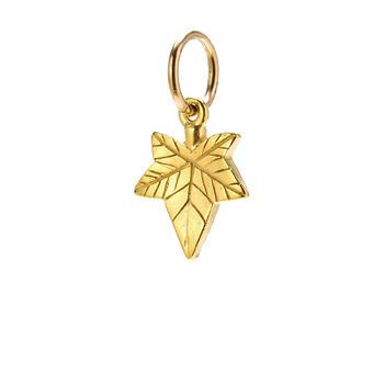 ivy charm, gold dipped