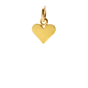 perfect heart charm, gold dipped