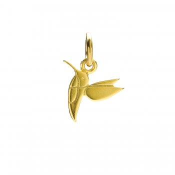 hummingbird charm, gold dipped