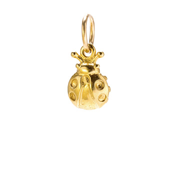ladybug charm, gold dipped