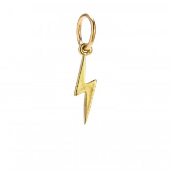 bolt charm, gold dipped