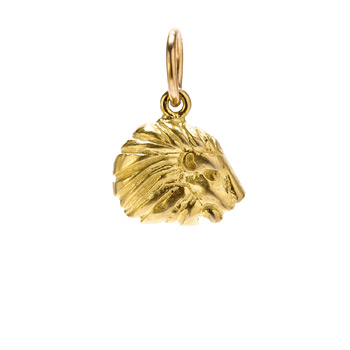 lion charm, gold dipped