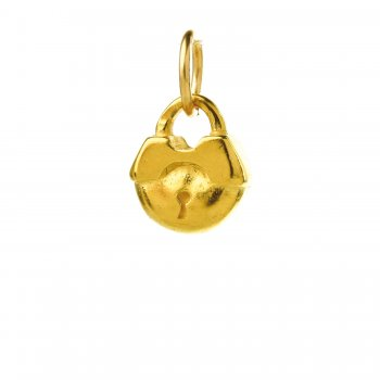 lock charm, gold dipped