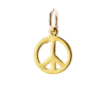 peace charm, gold dipped