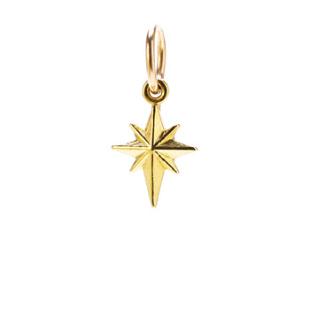 north+star+charm%2C+gold+dipped